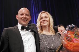 Årets företagare i Gävleborg är familjeföretaget Jobmeal Gävle AB med Jonas Ahlborg och Katarina Helling