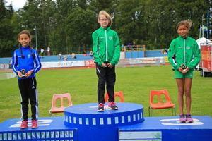 Från vänster: Ida Hättestrand från Högbo GIF och Sirgrid Floréus och Caitlyn Stömne från Valbo.