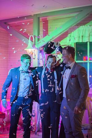 Den här trion utsågs till Årets entreprenörsjälar på företagsgalan 2015 för sitt jobb med Multisportrinken och Bike Park Älvkarleby. Från vänster - Jesper Myhr, Markus Oksanen och Daniel Strid.