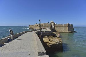 Havsfortet San Sebastian byggdes på 1500-talet.   Foto: Anders Pihl