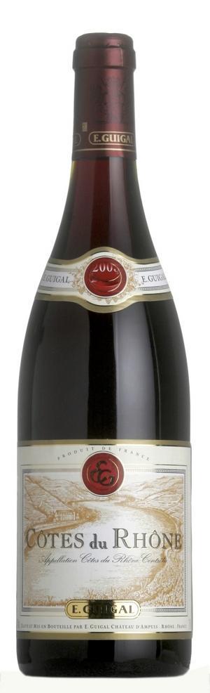 Bra Rhônevin. Guigal hör till franska Rhônedalens stora och bästa producenter. Deras maffiga Côtes-du-Rhône hör också till distriktets absolut bästa. Kan njutas direkt eller sparas några år.