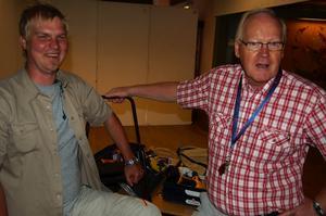 Förväntansfulla. Anders Gravsjö och Steinar Dahl samarbetar med Jaktmässan. Foto:Christian Larsen