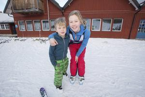 Fabian och Klara trivdes i Kungsberget.
