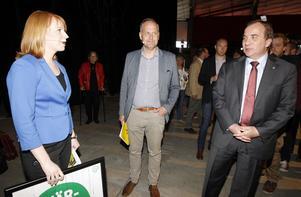 Nya allianser? Stefan Löfvén har valt bort Vänsterpartiet och Jonas Sjöstedt som samarbetspartner men flirtar gärna med Centerpartiets Annie Lööf.                                 Foto: Pernilla Wahlman/TT
