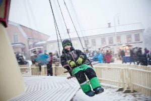 En av karusellåkarna var 5-årige Max Lindblå från Brunflo. Han tyckte det var lite blåsigt.