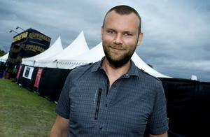 Martin Forssman, pressansvarig på Sweden Rock Festival.