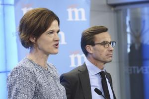 Anna Kinberg Batra (M), partiledare, och Ulf Kristersson (M), ekonomisk-politisk talesperson.