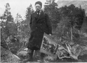 Norrlandsmålaren Helmer Osslund (1866–1938) var elev hos Gaugin, letade sina motiv i den svenska fjällvärlden och fick en sponsor i Gävle.   Foto: Privat