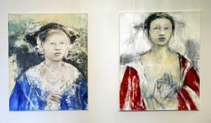 Målningar av Maria Björkluind.
