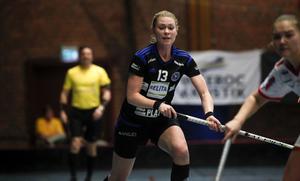 Jessica Carlsson var stekhet under mötet med Jönköping. 4–2-målet från forwarden betydde god natt för storfavoriten.
