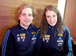 Jesper Nelin och Hanna Öberg.