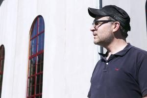 Björn Falkeström har själv valt de stora välvda fönstren för sitt nya bryggeri.