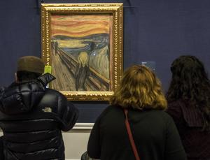 På Nasjonalgalleriet hänger Edvard Munchs världsberömda målning