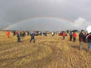 Tyisk bild för dagens väder. Trots regn så blev det en bra tävling. En del bilar behövde bärgning från parkeringen