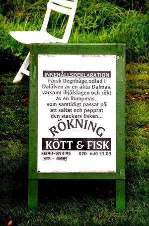 En fiskhandlares innehållsförteckning.