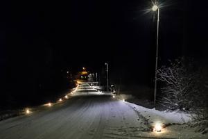 Den tjugoåriga traditionen att tända marschaller längs Bullerbacken i Los innan julottan genomfördes även i år.