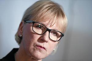 Utrikesminister Margot Wallström (S) adresserade riksdagen i onsdags.