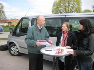 Gilbert Persson frågade och fick svar av Trafikverkets Elin Bartsch, konsult, och Angelica Persson, projektledare.