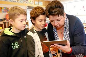 Veronie Lejonord, en av Hallsbergs lärare som nu nomineras till Guldäpplet. Arkivfoto: NA.
