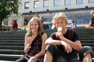 Samuel Wallberg från Stenhamreskolan i Ljusdal och Stina Johansson från Svågadalens skola i Ängebo utsågs av juryn som vinnare i 2010 års Skolpropaganda.