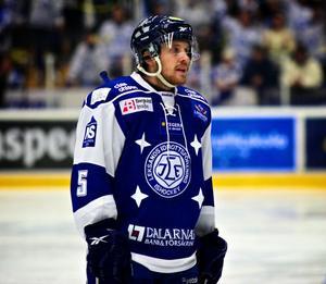 Leksandsbacken Eric Moe missar premiären mot Karlskrona i kväll.