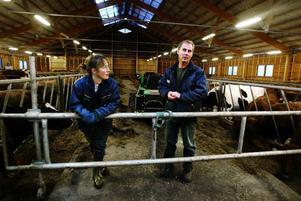 Mjölkbönderna Ewa-Maria och Torgny Widholm från Trägsta i Hallen kommer i år att få mer i gårdsstöd från EU än i fjol. Men under det senaste året har de förlorat betydligt mer på Milkos sänkta ersättning för mjölken, och de har tvingats säga upp anställda.