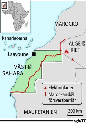 Muren går rakt igenom Västsahara