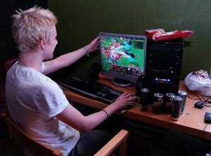 Spel. Warcraft är ett av de mest spelade spelen under LAN i Rättvik. Foto: SANDRA MATTSSON