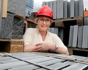 """""""Vi är enormt stolta över den här beställningen"""", säger Ann-Christin Gulle, som är försäljningschef på Minera skiffer AB."""