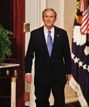 President i botten.