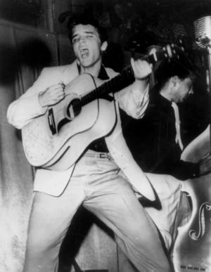 Elvis Presley i början av sin karriär på 1950-talet.