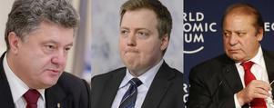 Ukrainas president Petro Porosjenko, Pakistans premiärminister Nawaz Sharif och Islands statsminister Sigmundur David Gunnlaugsson finns bland de som gömt pengar i skatteparadis med hjälp av advokatbyrån Mossack Fonseca.