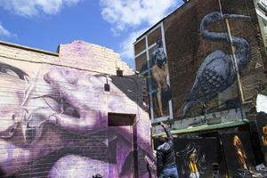 Bildtext 6: Hela östra London är full av gatukonst.    Foto: Elin Swedenmark