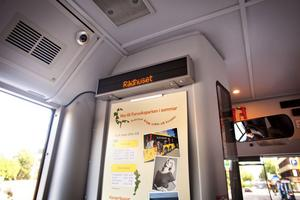 Inte förrän nästa år kommer det finnas automatiskt platsutrop på bussarna.