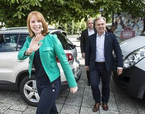 Med Annie Lööf (C) i spetsen intog Alliansens partiledare Sundsvall i går.