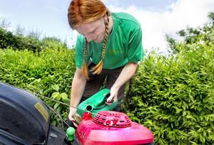 Sandra Pedersen är nybliven trädgårdsmästare.