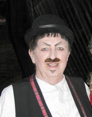 """Berit som """"Herman"""" från """"En midsommarnattsdröm"""" från föreställningen vid Döda Fallet 2010."""