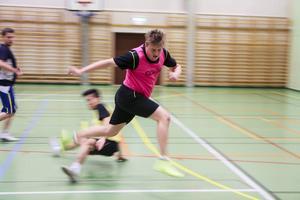 Mattias Larsson i Lillhärdal i flygande fläng.
