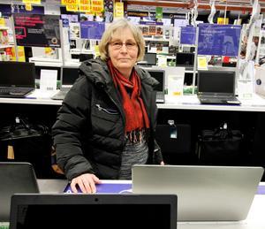 Carita Eriksson från Fagersta köpte en dator på Elgiganten.