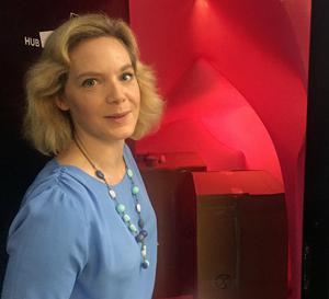 Nina Bozic har inrett ett av Expectrums mötesrum som en livmoder.