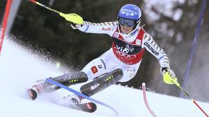I kväll kör Frida Hansdotter den sista slalomtävlingen innan VM i Vail.