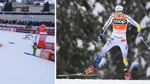Stina Nilsson vann duellen med norska rivalen Falla och tog sin andra världscupseger. Bild: SVT/TT.