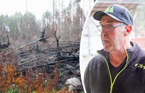 Börje Jonsson är den femte generationen på Västigården i Enskogen. I branden förstördes runt 85 procent av hans skog.