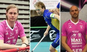 Nya i IBF Falun: Adam Colling, Johan Samuelsson och Eric Björk.