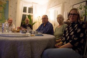 Miljöpartiet i Ovanåker valvakade hemma hos Lindvi Forsberg i Edsbyn.
