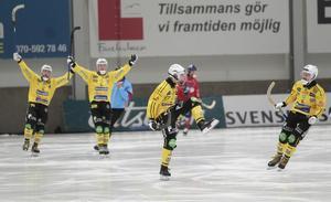 Jesper Thyrén öppnade målskyttet för Broberg redan i den fjärde minuten.