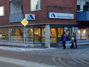 Arbetsförmedlingen i Hedemora. Foto Inger Wallin.