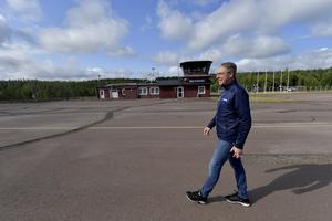 – Arbetet med att återuppliva Idre flygplats har tagits väl emot av näringen i Idre och Grövelsjön, säger Jörg Bassek.