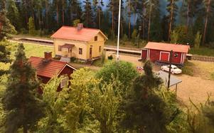 Järnvägsstationen i Stumsnäs.