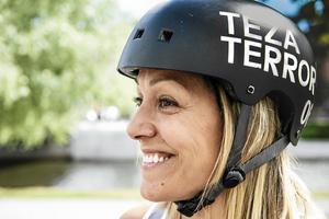 """""""Det finns folk som är över 40 som börjar, det är ballt"""", säger Theresa Bystedt."""